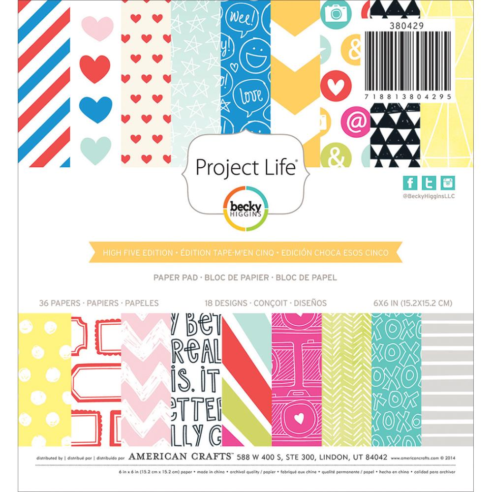 Project Life - High Five - pad papier�w 6x6